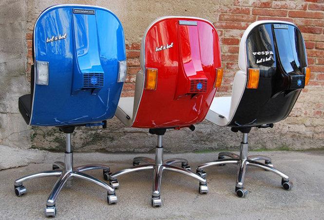 Ghế đẹp từ... xe Vespa