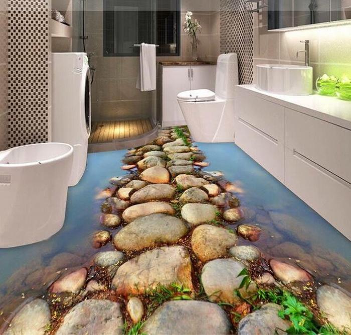 Ấn tượng với sàn nhà 3D ấn tượng