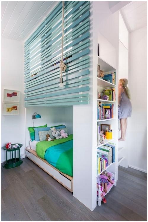 Tận dụng không gian tối ưu trong phòng ngủ của trẻ