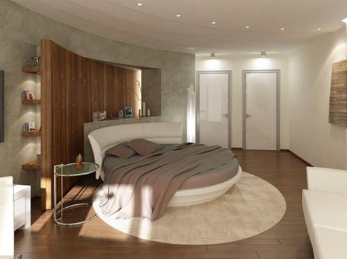 Độc đáo với giường ngủ hình tròn