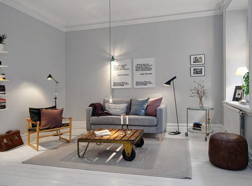 Phòng khách đơn giản, thanh lịch trong diện tích nhỏ