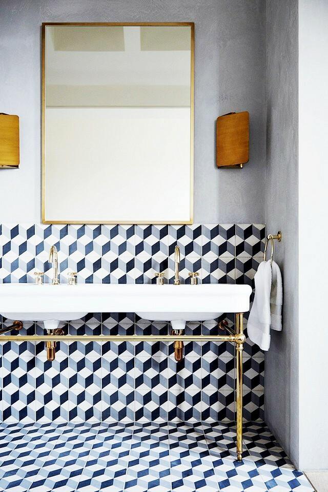 Những mẫu gạch lát phòng tắm ấn tượng