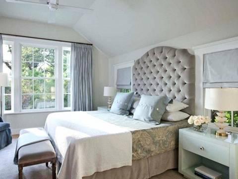 Phòng ngủ ấn tượng với sắc xám