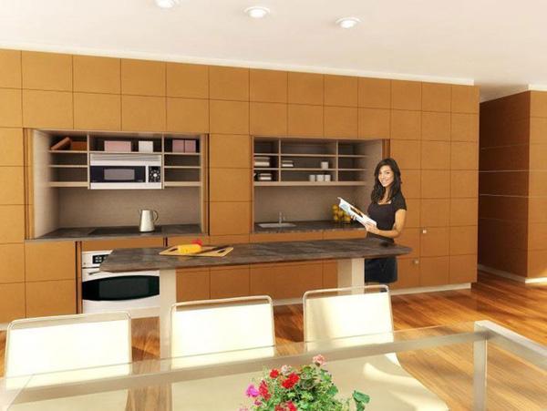 Tủ bếp đa năng cho các bà nội trợ yêu sự gọn gàng