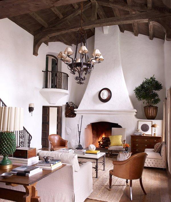 Phòng khách nhà Reese Witherspoon ấm cúng và hiện đại