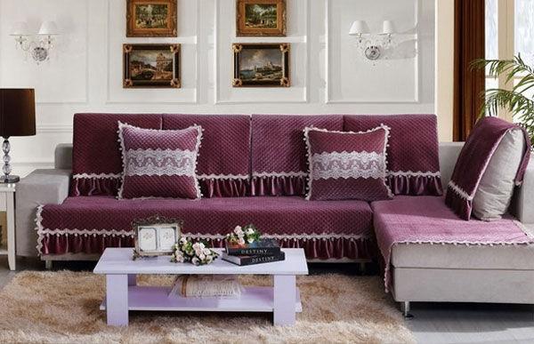 Sắc tím của vải bọc ghế sofa
