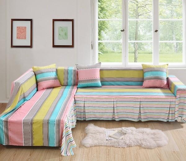 Những gam màu trẻ trung của chiếc ga phủ ghế sofa