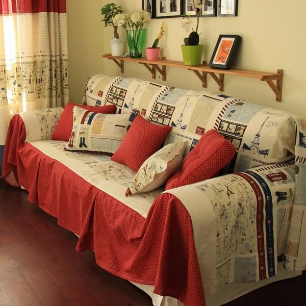 sự đồng bộ giữa vải bọc sofa và tấm rèm cửa