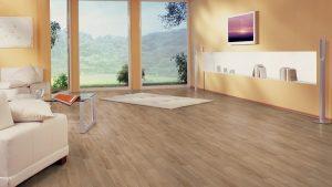 Sàn gỗ công nghiệp thuận lợi cho việc lau chùi