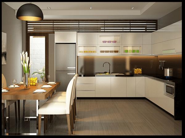 Phòng bếp nhà ống tiện nghi