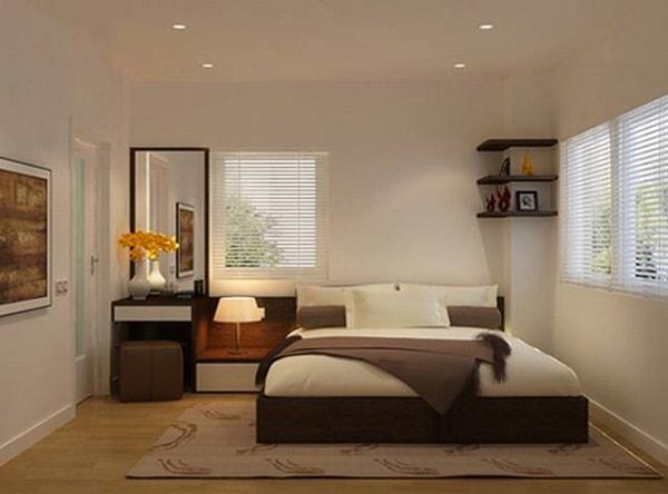 Phòng ngủ nhà ống ấm cúng
