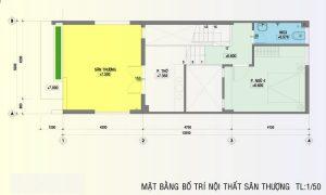 Thiết kế tầng 3 nhà ống 5x20m