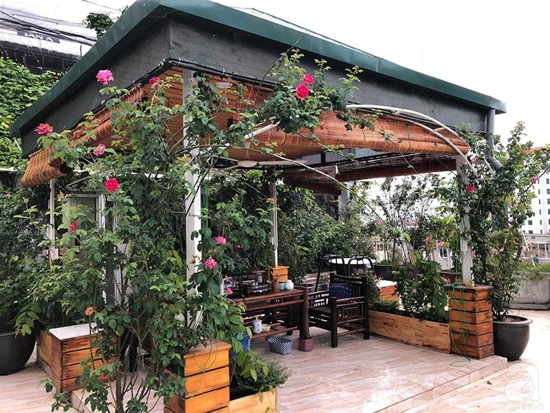 Không gian sống tuyệt vời với giàn hoa pergola