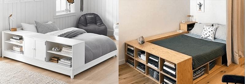 Giường kết hợp kệ sách