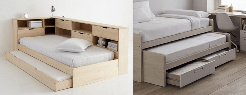 Giường đôi thu gọn