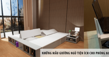 Những mẫu giường ngủ tiện ích cho phòng ngủ hiện đại